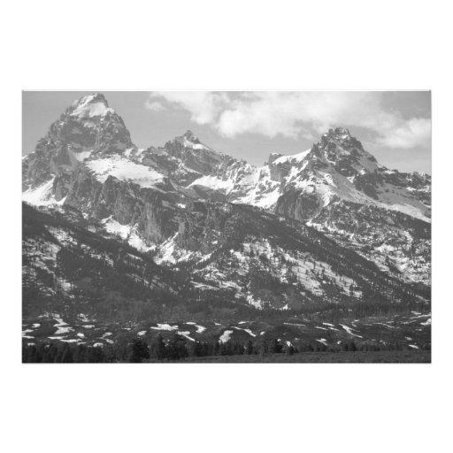 Tetons grande #4 em preto e branco impressão de fotos