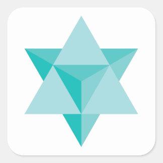 Tetraedro da estrela de Merkaba Adesivo Quadrado