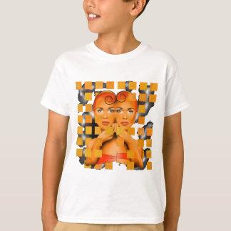 Tetrathos V1 - cabeça do coração com fundo Camiseta