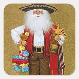 Texan do sudoeste mexicano latino-americano Papai Adesivo Quadrado