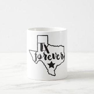 Texas agride para sempre - o preto caneca de café