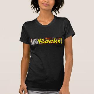 Texas Country Rocks Ladies Black T T-shirts