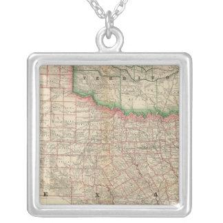 Texas e território indiano colar banhado a prata