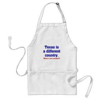 Texas é um país diferente aventais