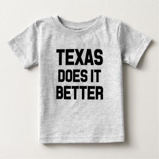 Texas melhora a camisa engraçada do bebé