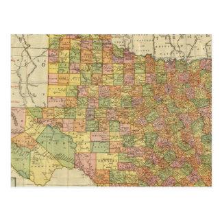 Texas pela margem McNally Cartão Postal