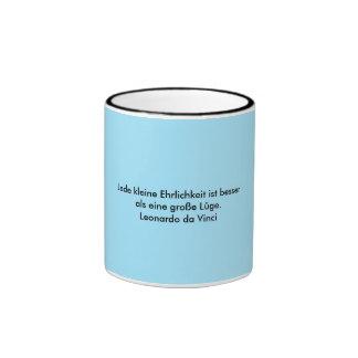 Texto alemão - da Vinci Caneca Com Contorno