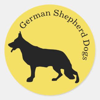Texto arredondado etiqueta do cão de german