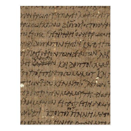 Texto com escrita antiga, papel velho do pergaminh cartões postais