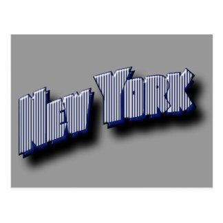 Texto da bandeira de New York Cartão Postal
