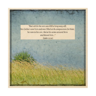 Texto da bíblia em canvas de madeira bonitas