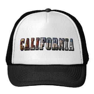 Texto da imagem de Califórnia Boné