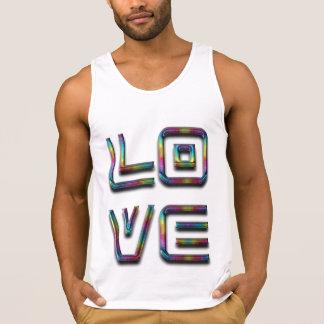 Texto da tipografia do arco-íris do amor somente