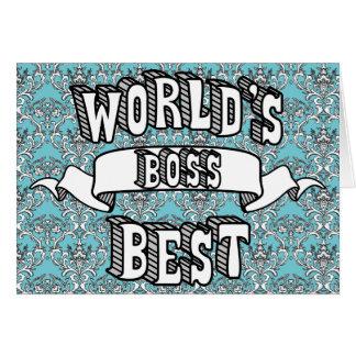 Texto da tipografia do chefe do mundo cartão