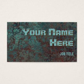 """Texto """"de cobre"""" do lado do cartão de visita do"""
