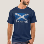 Texto de Scotland + Bandeira do Scottish do Grunge Camiseta