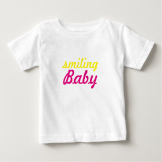 texto de sorriso do bebê camiseta para bebê