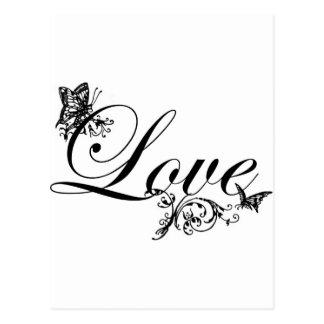 Texto do amor com o cartão do costume das