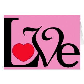 Texto do amor com o cartão do dia dos namorados do