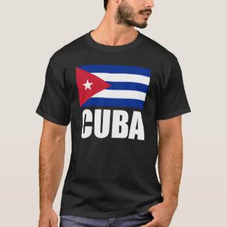 Texto do branco da bandeira de Cuba Camiseta