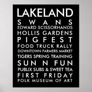 Texto do branco da história 16x20 de Lakeland Pôster