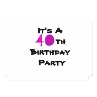 Texto do convite do aniversário de 40 anos, o