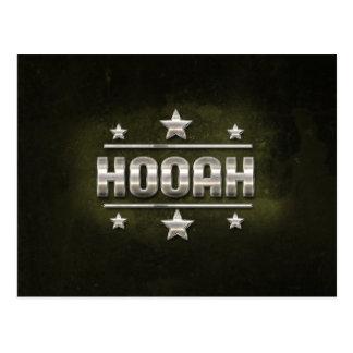 Texto do metal Hooah Cartão Postal