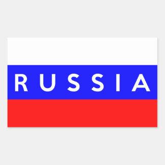 texto do nome do símbolo da bandeira de país de adesivo retangular