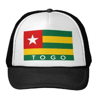 texto do nome do símbolo da bandeira de país de boné