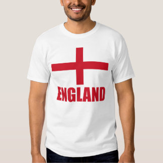 Texto do vermelho da bandeira de Inglaterra Tshirt