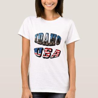 Texto dos EUA do estado e da bandeira da imagem de Camiseta
