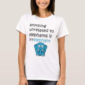 Texto engraçado do elefante dos desenhos animados camiseta
