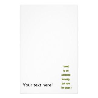 Texto engraçado do sabão papelaria