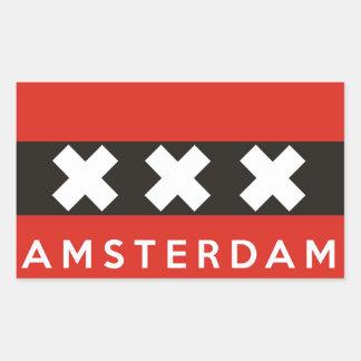 texto holandês do nome de país da bandeira da adesivo retangular