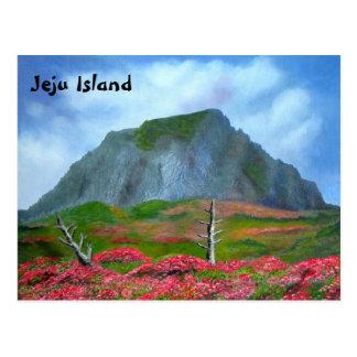 Texto inglês de Coreia da ilha de Jeju (제주도) Cartão Postal