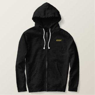 Texto inteiramente customizável da jaqueta de