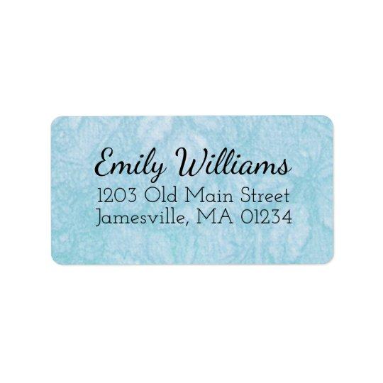 Texto preto azul e branco de w das etiquetas de etiqueta de endereço