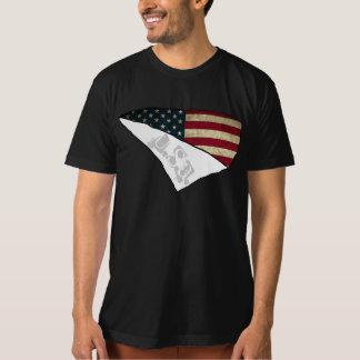 texto rasgado EUA da bandeira americana T-shirt