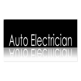 Texto reflexivo - auto eletricista - cartão de cartão de visita