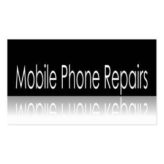 Texto reflexivo - reparos do telefone móvel - cartão de visita