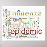 texto relacionado da gripe da gripe posters