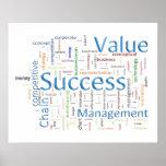 Texto relacionado do valor e do sucesso posters