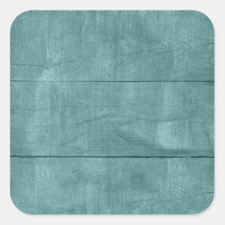 Textura bonita da madeira da cerceta adesivos quadrados