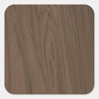 Textura bonita da madeira de Brown do Mocha Adesivo Quadrado