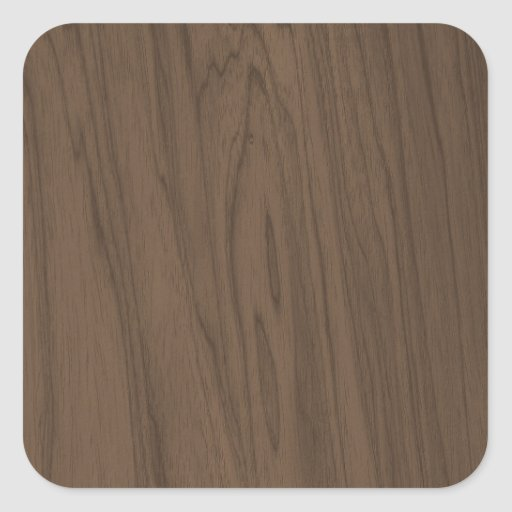 Textura bonita da madeira de Brown do Mocha Adesivos Quadrados