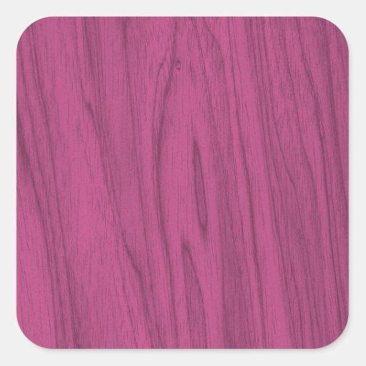 Textura bonita da madeira do rosa quente adesivo quadrado
