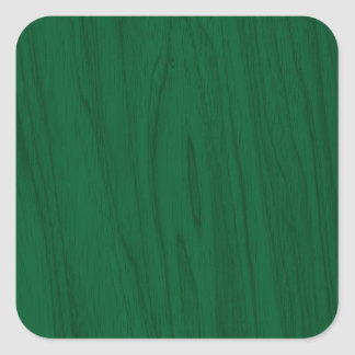 Textura bonita da madeira do verde esmeralda adesivo em forma quadrada