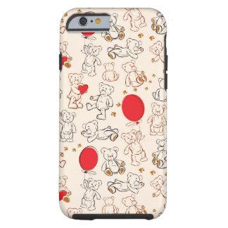 Textura com ursos de ursinho capa tough para iPhone 6