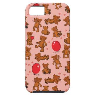 Textura com ursos de ursinho, corações capa tough para iPhone 5