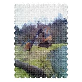 textura da foto da máquina escavadora convites